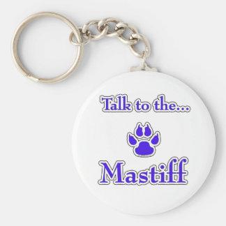 Mastiff Talk blue Keychain