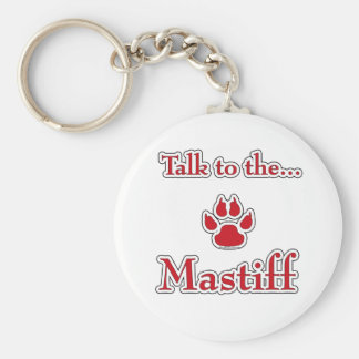 Mastiff Talk red Keychain