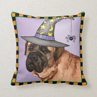 Mastiff Witch Throw Pillow