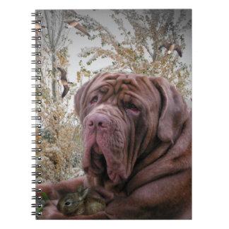 Mastiff with Rabbit notebook