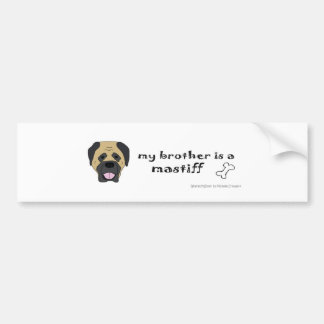 MastiffBrother Bumper Sticker