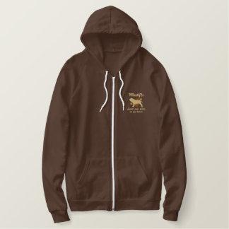 Mastiffs Leave Paw Prints Embroidered Zip Hoodie