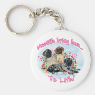Mastiffs Love to Life Keychain
