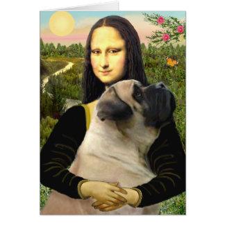 Mastín #1 de Mona Lisa - de Bull Tarjeta De Felicitación