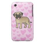 Mastín/amor de Bullmastiff iPhone 3 Case-Mate Carcasas