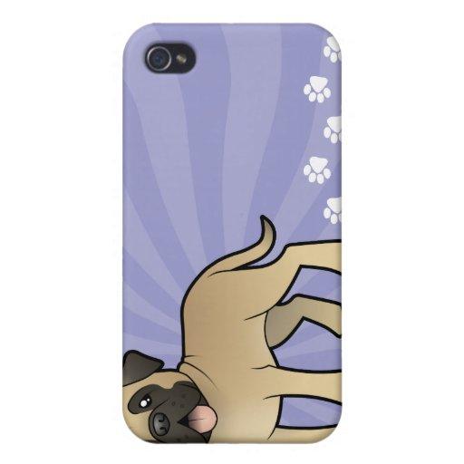 Mastín/Bullmastiff del dibujo animado iPhone 4 Carcasa