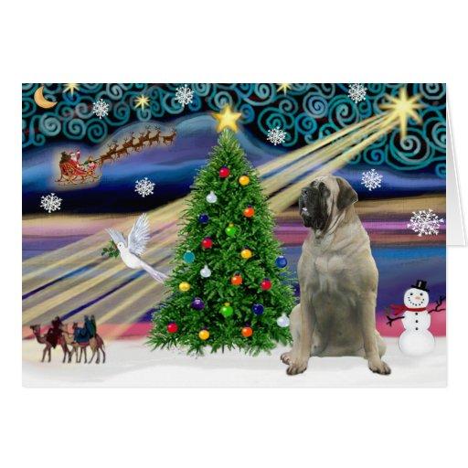 Mastín de Bull mágico del navidad #11 Felicitación