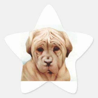 ¡Mastín del bebé - LINDO ESTUPENDO! Pegatina En Forma De Estrella