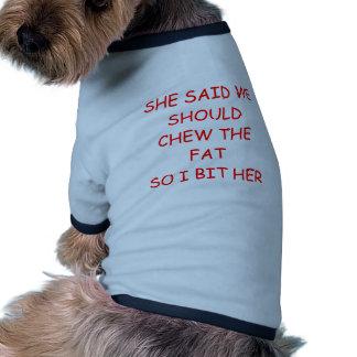 mastique la grasa camisas de perritos