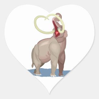 Mastodon Dinosaur Heart Sticker