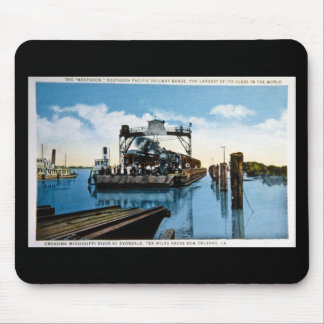 Mastodon Southern Pacific Railway Barge Mouse Pad