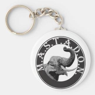 Mastodon with no Trademar copy Basic Round Button Keychain