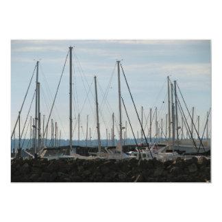Masts In The Marina Card