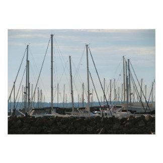 Masts In The Marina Invite