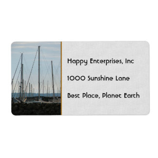 Masts In The Marina Label