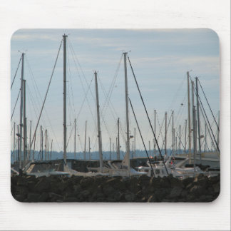 Masts In The Marina Mouse Pad