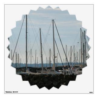 Masts In The Marina Wall Sticker