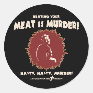 masturb-retro-DKT Classic Round Sticker