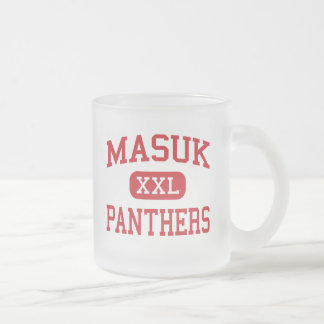 Masuk - Panthers - High - Monroe Connecticut Frosted Glass Coffee Mug
