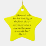 Mat 2:10  When they saw the star, they rejoiced ex Ornament