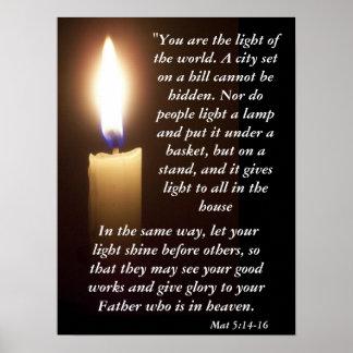 Mat 5:14-16 posters