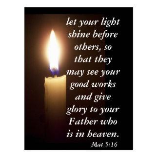 Mat 5:16 postcard