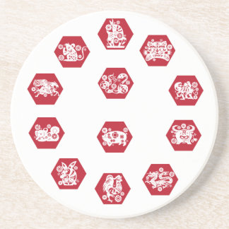 mat Chinese constellations Drink Coaster