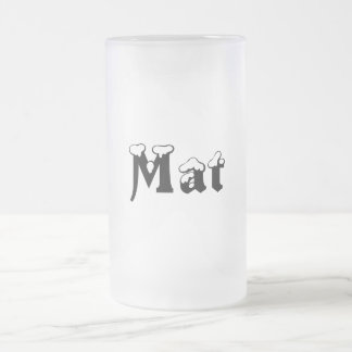 Mat-Name-Style Frosted Mug
