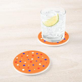 Mat round with confetti sandstone coaster