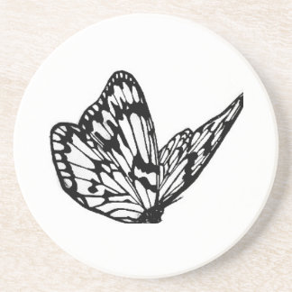 mat with butterfly drink coaster
