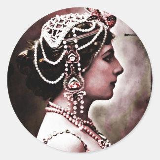Mata Hari 1910 Classic Round Sticker