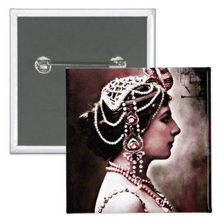 Mata Hari 1910 Pinback Button