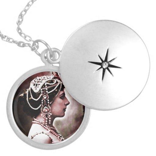Mata Hari 1910 Round Locket Necklace