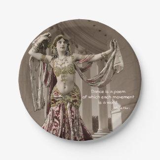 Mata Hari Bellydance Dancer Quote Paper Plate