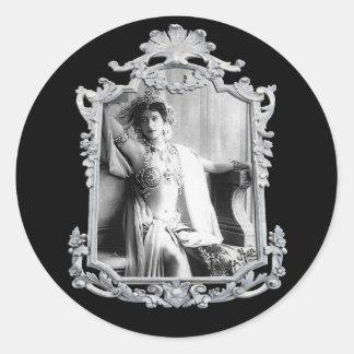 Mata Hari Classic Round Sticker