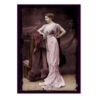 Mata Hari de l'Odeon Tarjetas De Visita Grandes