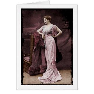 Mata Hari en el teatro Tarjeta De Felicitación
