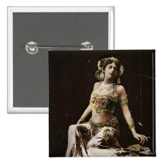 Mata Hari en traje del Harem Pin Cuadrada 5 Cm