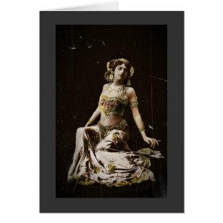Mata Hari en traje del Harem Tarjeta De Felicitación
