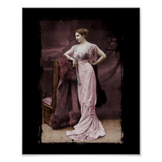 Mata Hari en vestido del teatro Póster