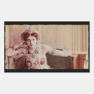 Mata Hari Harem Costume Rectangular Sticker