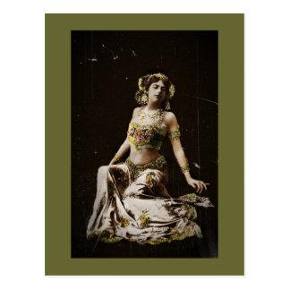 Mata Hari in Harem Costume Postcard