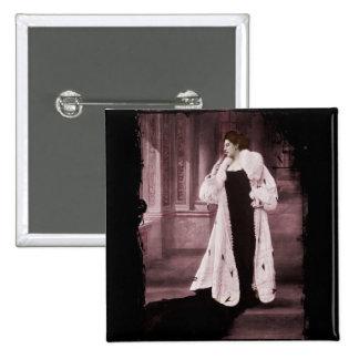 Mata Hari In White Fur Coat Button