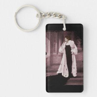 Mata Hari in White Fur Coat Keychain