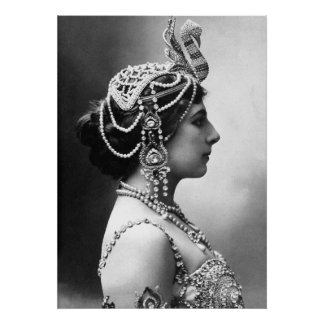 "Mata Hari: ""Mujer hermosa, espía peligroso "" Póster"