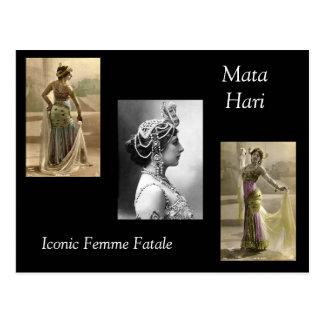 Mata Hari Tarjeta Postal
