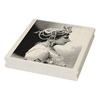 Mata Hari Vintage Photograph Rubber Art Stamp