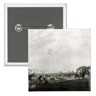 Matadero del sur grabado por Maile y Pin Cuadrada 5 Cm