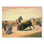 Matador 1860 tarjeta de felicitación grande