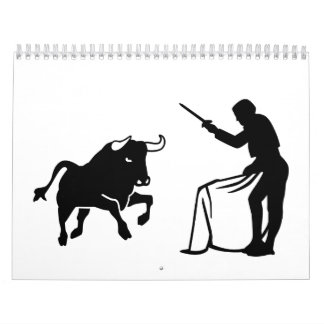 Matador bull fighting calendar